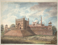 The Jami Masjid at Delhi from the north-east.